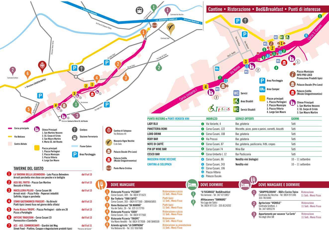 Mappa turistica Festa dell'Uva 2016