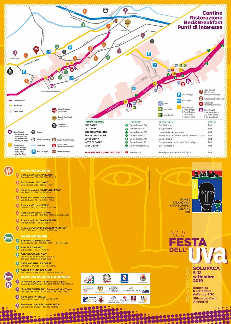 Mappa turistica Festa dell'UVa SOlopaca